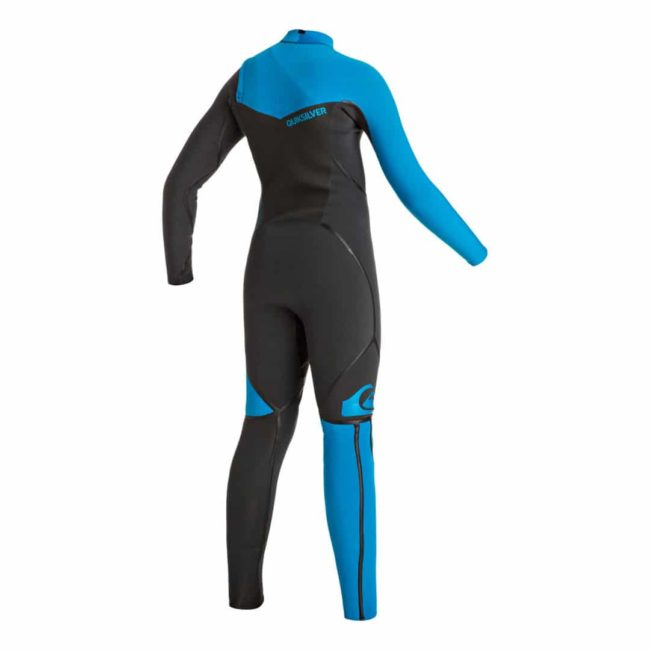 Quiksilver Youth 4/3mm Syncro+ Chest Zip LFS Wetsuit back
