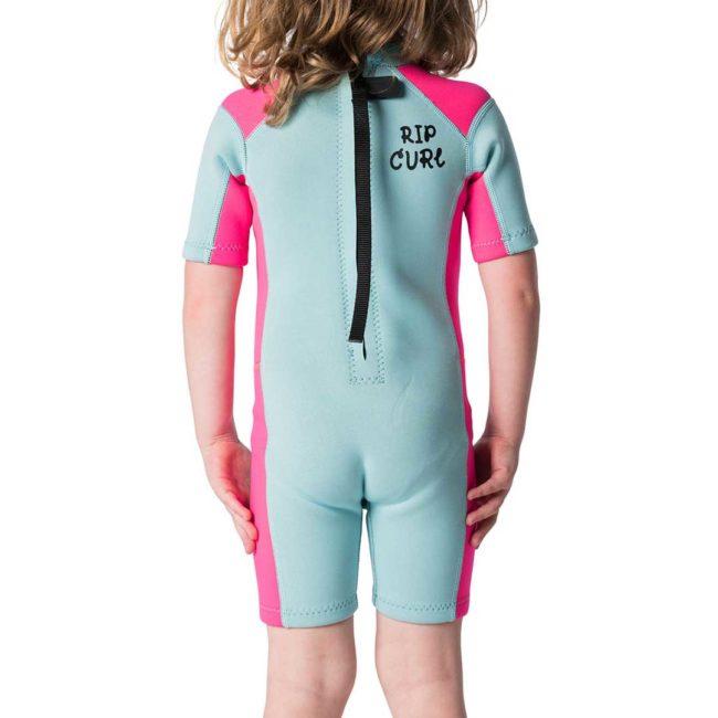 Kids Dawn Patrol Short Sleeve Spring Wetsuit rear