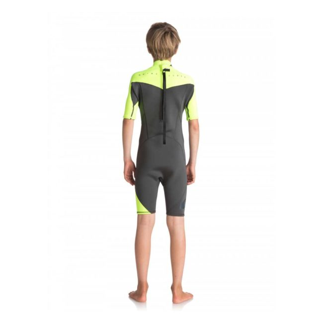 Quiksilver Youth 2/2mm Syncro FL Back Zip Wetsuit Yellow