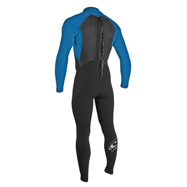 O'neill Youth Epic 3/2mm Wetsuit Black/ Brt Blue back zip