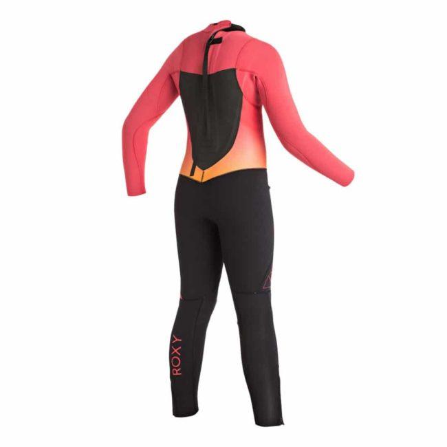 Roxy 3/2mm Syncro GBS steamer wetsuit back